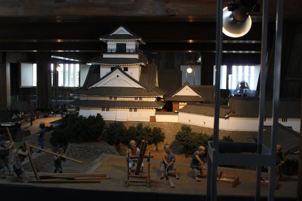 kochi castle diorama