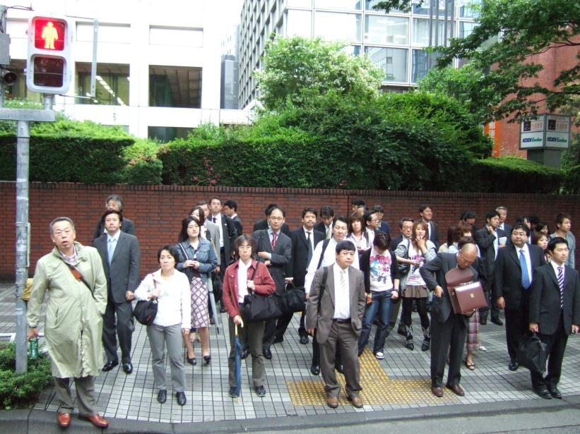 going to work, tokyo crosswalk,