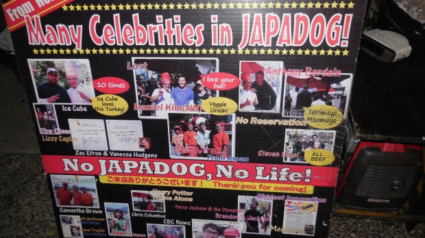 japadog cart celebrity pictures
