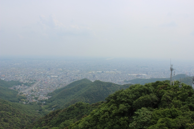 view of gifu from gifu castle