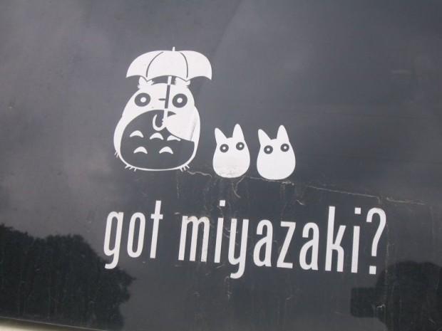 totoro sticker, miyazaki