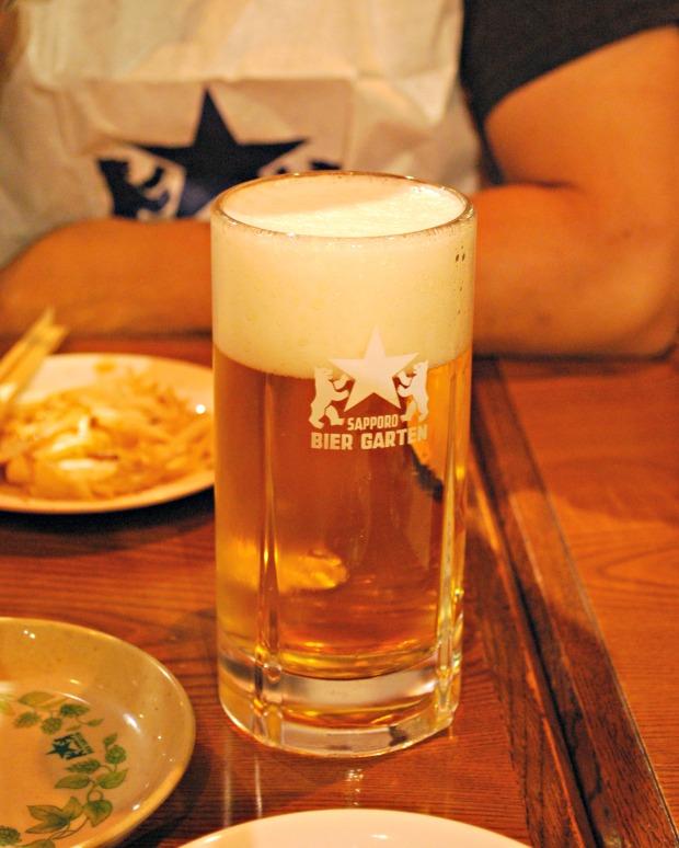 sapporo beer garden beer