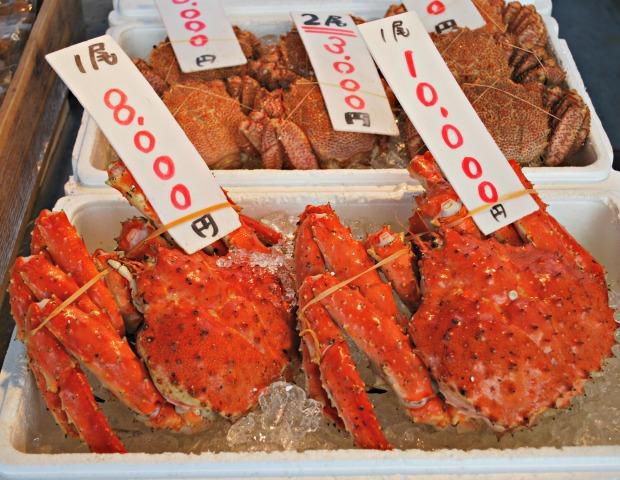 nijo market crabs 2