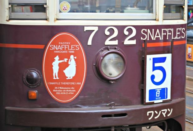 Pastry Snaffles on tram