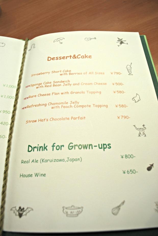 straw hat cafe english menu 3