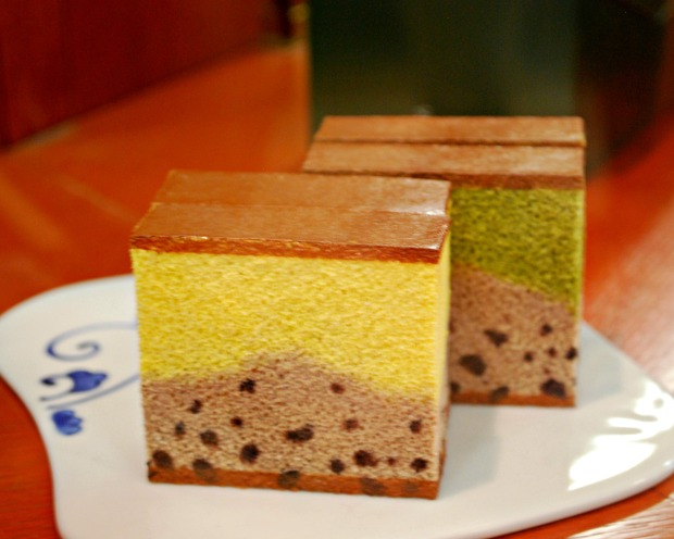 multi-colored castella